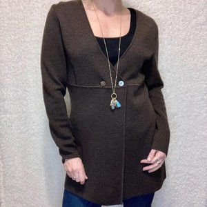 Doncaster Wool Long Cardigan Sweater